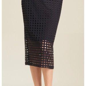 Clara Sun Woo Perforated Skirt - Black